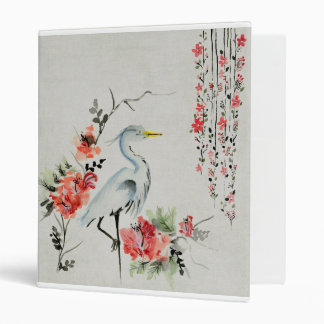 Japanese Crane 3 Ring Binder