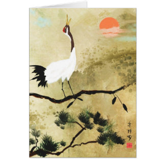 Japanese Crane Greeting Card