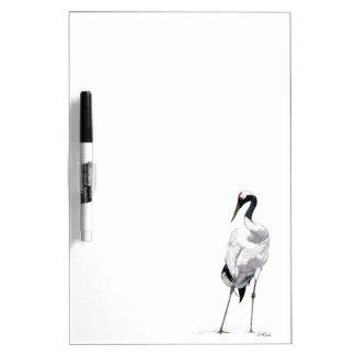 Japanese Crane (Grus japonensis) Dry Erase Board