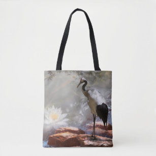 Asian Cranes Crossbody Bag