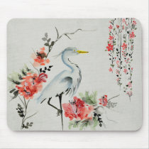 Japanese Crane Mouse Pad