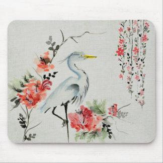Japanese Crane Mouse Pad