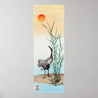 Japanese Crane no.2 Poster