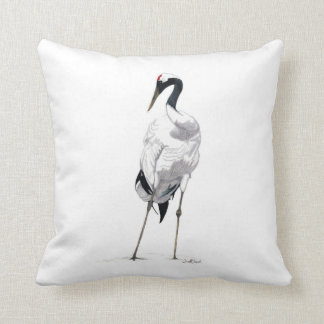 Japanese Crane Pillow - With Color Back