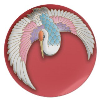 Japanese crane party plate