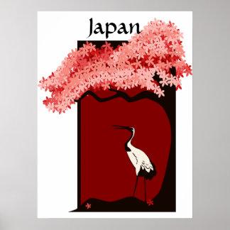 Japanese Crane Poster