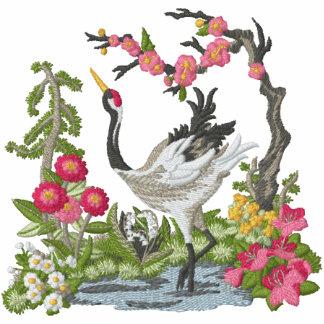 Japanese Crane Scene Hoodie