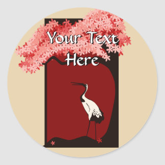 Japanese Crane Sticker