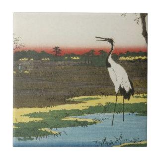 Japanese Crane Tile