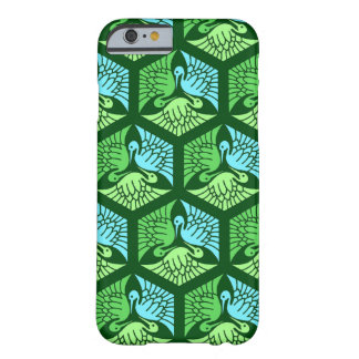 Japanese Cranes, Jade Green and Light Blue Barely There iPhone 6 Case
