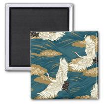 Japanese Cranes Magnet