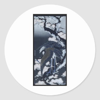Japanese Cranes painting c. 1832-33 Stickers