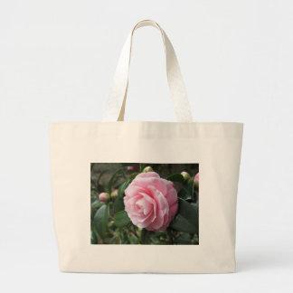 Japanese cultivar of pink Camellia japonica Large Tote Bag