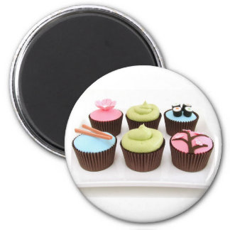 japanese cupcakes 2 inch round magnet