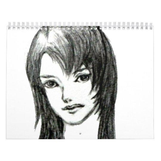 Japanese cute girl MANGA Calendar