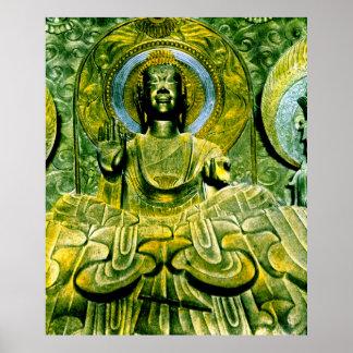 Japanese Daibutsu Buddha Vintage Poster