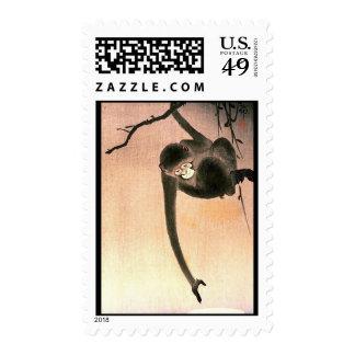 Japanese Dangling Monkey Woodblock Art Ukiyo-E Postage