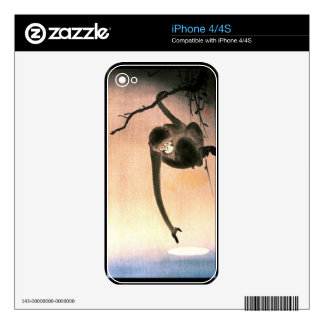 Japanese Dangling Monkey Woodblock Art Ukiyo-E iPhone 4 Skin