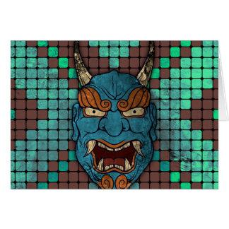 Japanese Demon Card