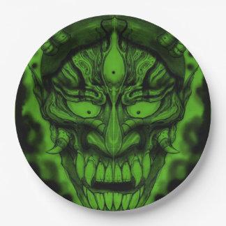 "Japanese Demon Custom Paper Plates 9"""
