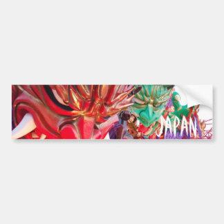 Japanese Demon Festival Float Bumper Sticker
