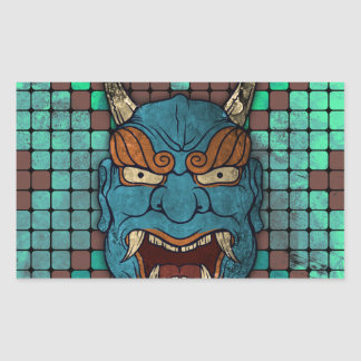 Japanese Demon Rectangular Sticker