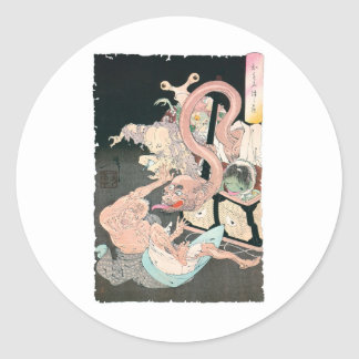 Japanese Demons and Ghosts Classic Round Sticker