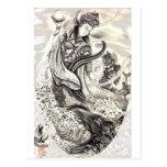 Japanese Demons of Sea Postcards