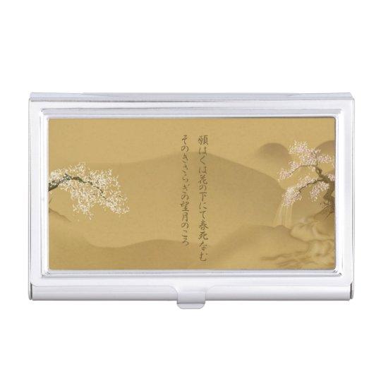 Japanese design sakura by the river sepia style business card japanese design sakura by the river sepia style business card holder colourmoves