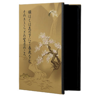 Japanese Design :: Sakura by the River sepia style iPad Air Case