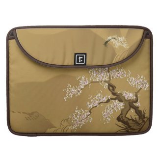 Japanese Design :: Sakura by the River sepia style MacBook Pro Sleeve
