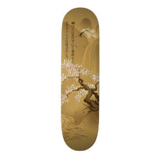 Japanese Design :: Sakura by the River sepia style Skateboard