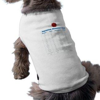 Japanese Direction Chart Pet T-shirt
