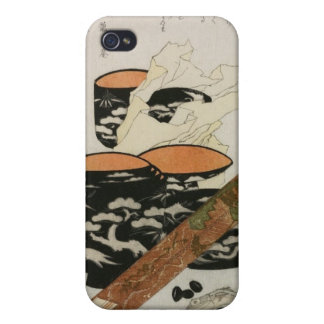 Japanese Dishware and Fish circa 1800s iPhone 4 Case