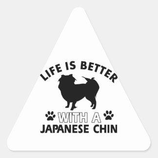 Japanese dog breed designs triangle sticker