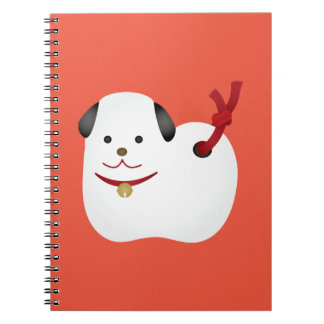 Japanese dog ornament notebook