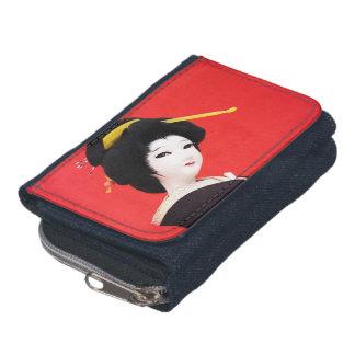 Japanese Doll Denim Wallet
