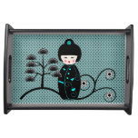 Japanese Doll Serving Tray