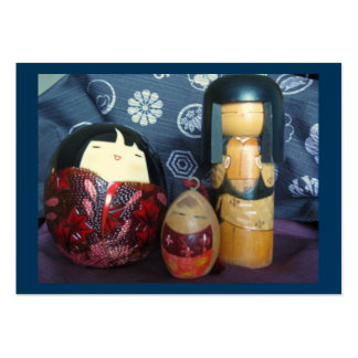 Japanese dolls large business cards (Pack of 100)