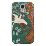 Japanese Dove in Cherry Blossom Leaves Galaxy S4 Cover