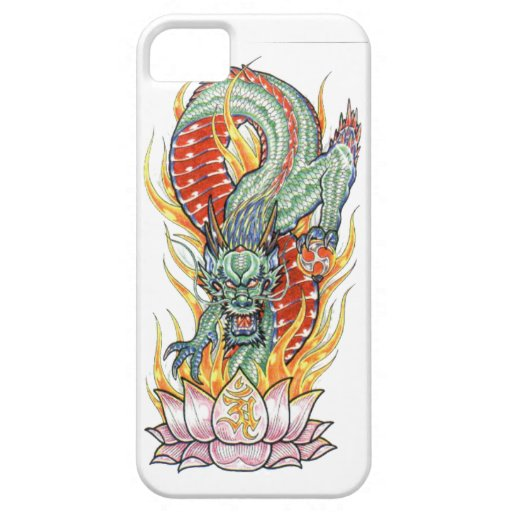 Japanese Dragon and Lotus Flower iPhone 5 Covers