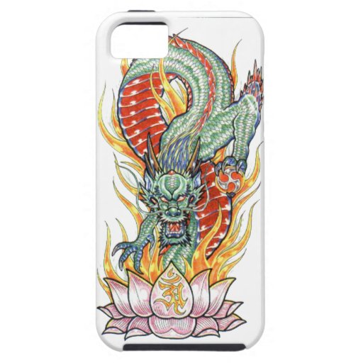 Japanese Dragon and Lotus Flower Case For The iPhone 5