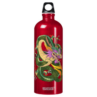 Japanese dragon Book of 100 dragons LEVEL 2 Water Bottle