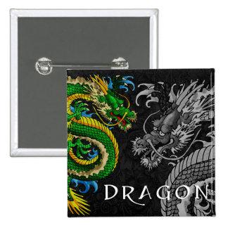 Japanese Dragon Pinback Buttons