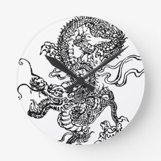 Japanese Dragon - In the Chinese Style Round Clock