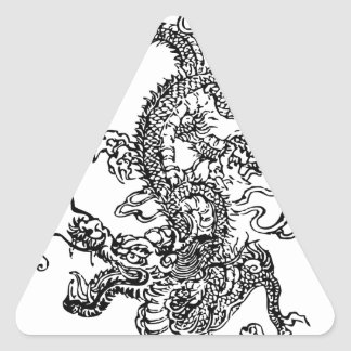 Japanese Dragon - In the Chinese Style Triangle Sticker
