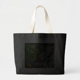 Japanese Dragon Large Tote Bag