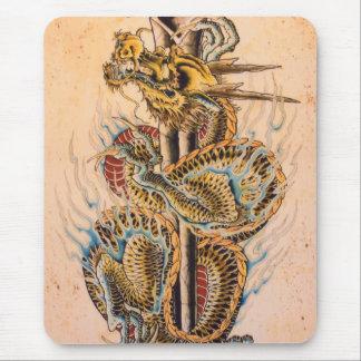 Japanese Dragon Mouse Pad