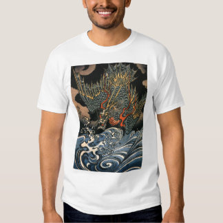 Japanese Dragon Painting c. 1800's Shirt
