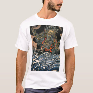 Japanese Dragon Painting c. 1800's Shirt